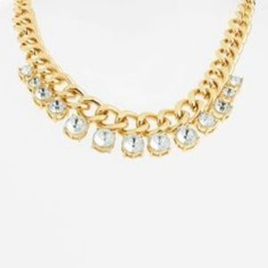 Banana Republic Round Brilliant Crystal Necklace
